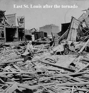 East St. Louis tornado damage